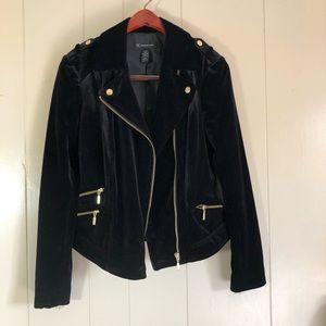 Size small Inc. black velvet Moto jacket